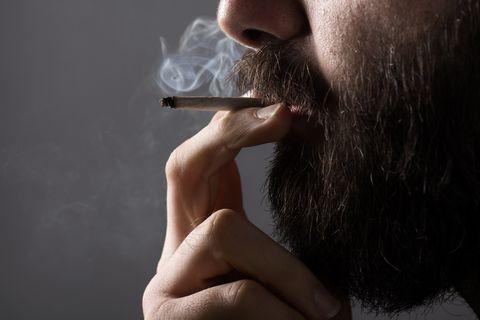 Facial hair, Hair, Smoking, Beard, Cigarette, Smoke, Tobacco products, Lip, Nose, Chin,