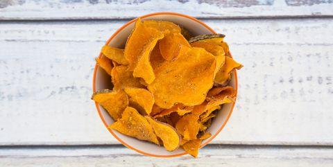 Junk food, Tortilla chip, Corn chip, Potato chip, Snack, Orange, Yellow, Totopo, Nachos, Chenpi,