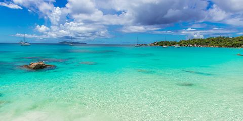 Body of water, Sea, Sky, Ocean, Coastal and oceanic landforms, Tropics, Blue, Beach, Caribbean, Coast,