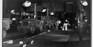Jeeps on Assembly Line in Toledo, 1943