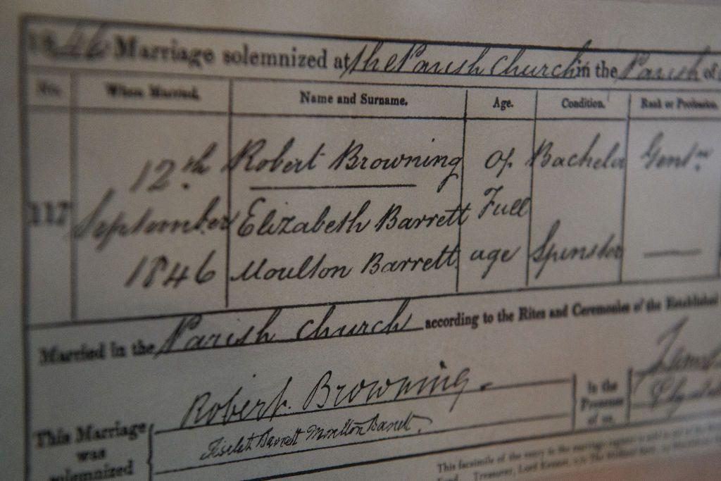 L'amore tra Elizabeth Barrett e Robert Browning e come sbocciò tra lettere e poesie, Londra e Firenze