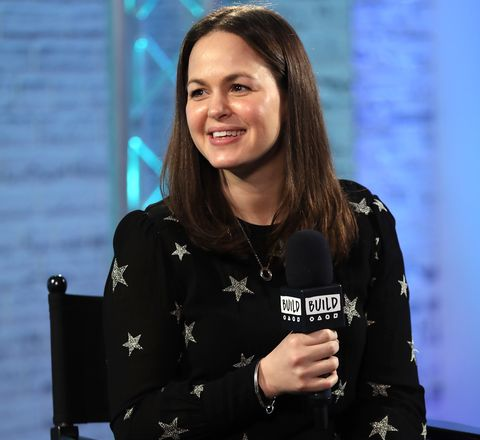 london, england   february 22  giovanna fletcher joins build for a live interview at their london studio at aol on february 22, 2017 in london, united kingdom  photo by tim p whitbygetty images