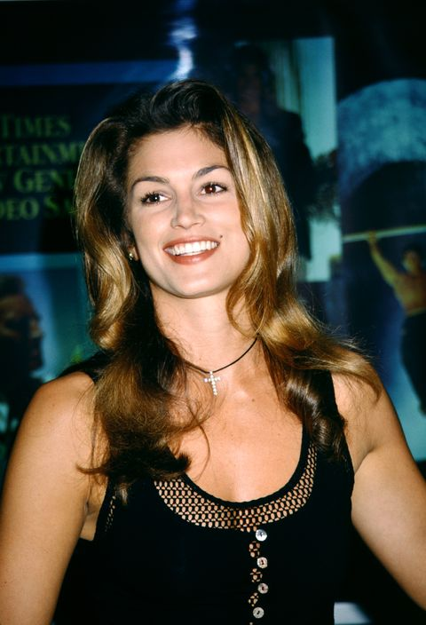 las vegas, nv   july 11 american supermodel cindy crawford attends the 12th annual video software dealers association vsda convention and expo on july 11, 1993 at the las vegas convention center in las vegas, nevada  photo by ron davisgetty images