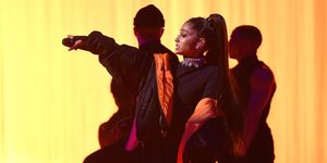 Ariana Grande almost fell on stage and the video is highly amusing