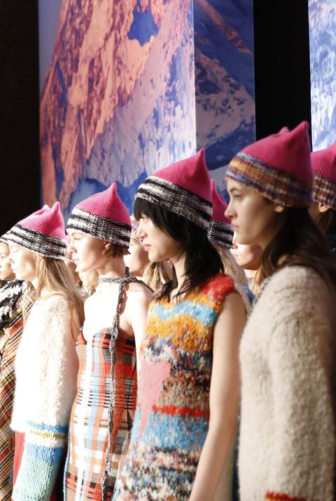 milan, italy   february 25  models walk the runway at the missoni show during milan fashion week fallwinter 201718 on february 25, 2017 in milan, italy  photo by tristan fewingsgetty images