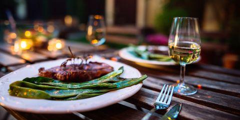 Food, Dish, Meal, Stemware, Champagne stemware, À la carte food, Cuisine, Supper, Dinner, Wine glass,