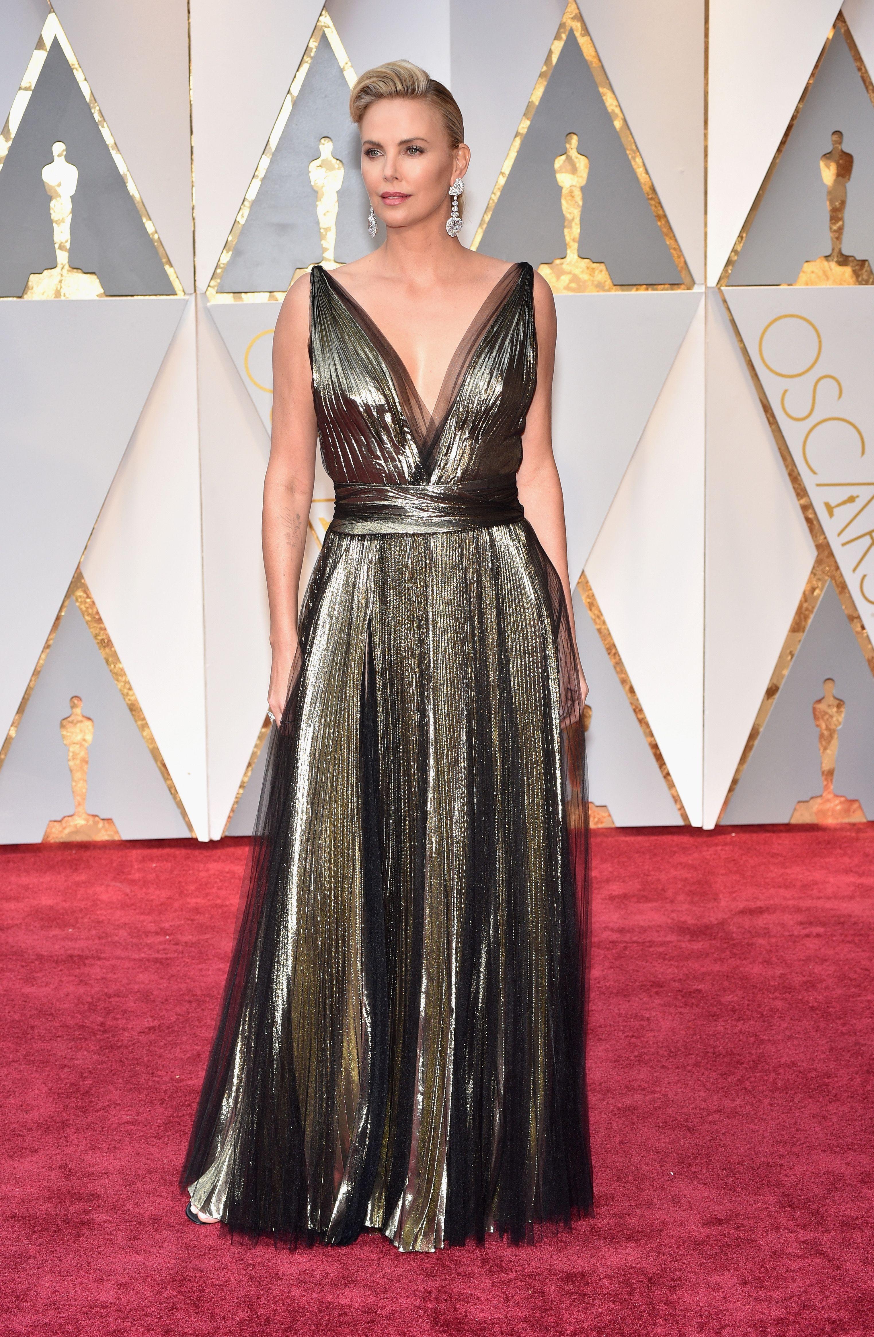 Charlize Theron Dress on Oscar