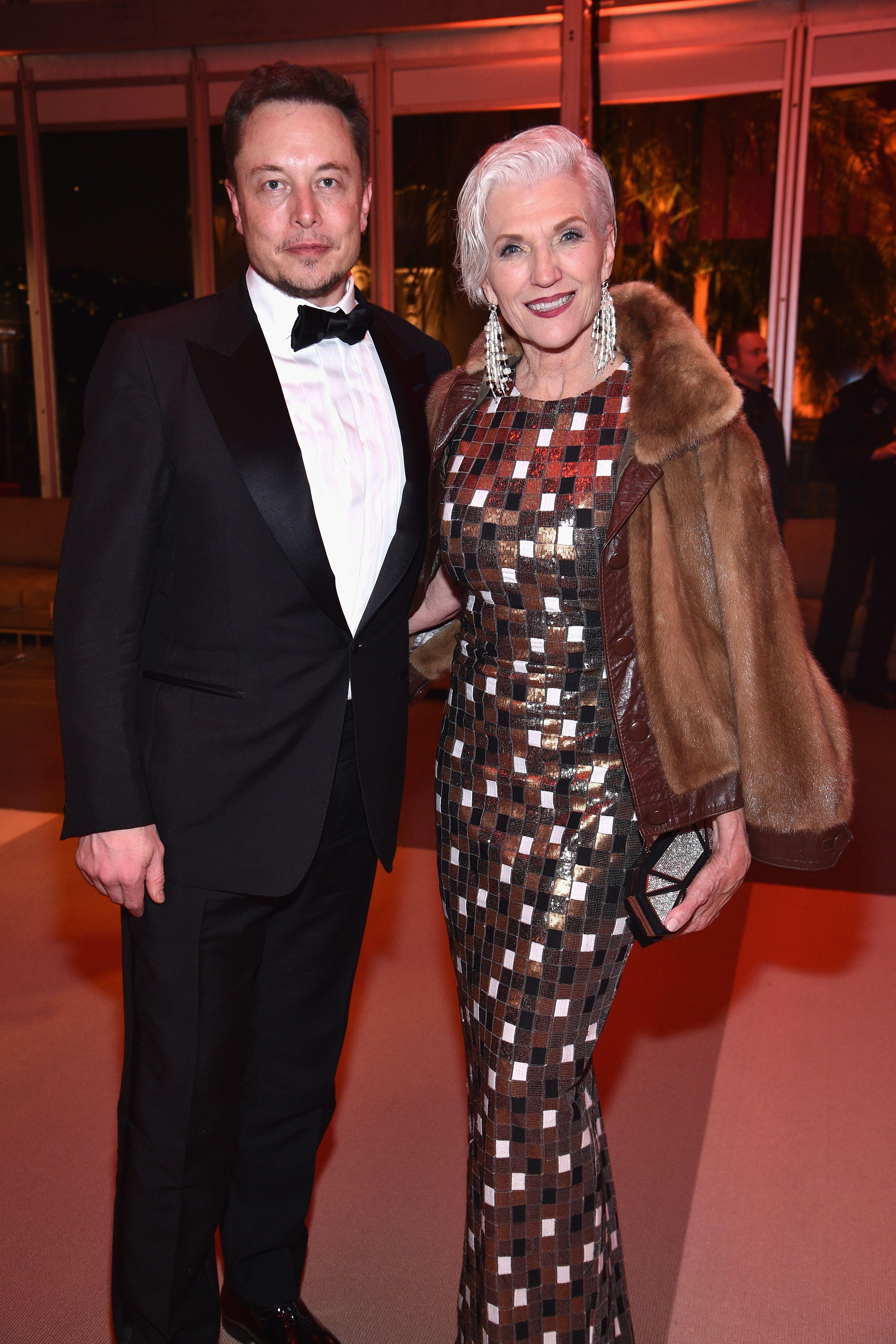 Elon Musk's mother Maye Musk is a model.