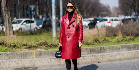 Leather Trench Coat Street Style Miroslava Duma