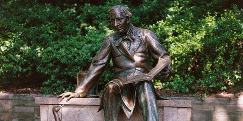 Male statue in Central Park