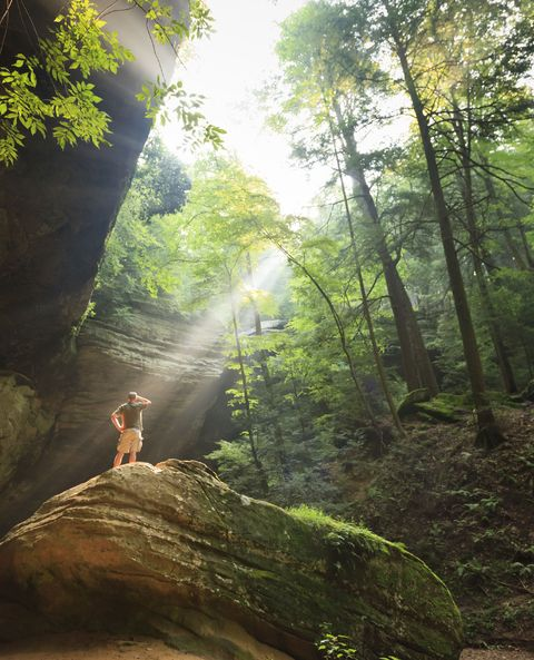 ash cave, hocking hills state park, ohio, usa photo by jumping rocksuniversal images group via getty images