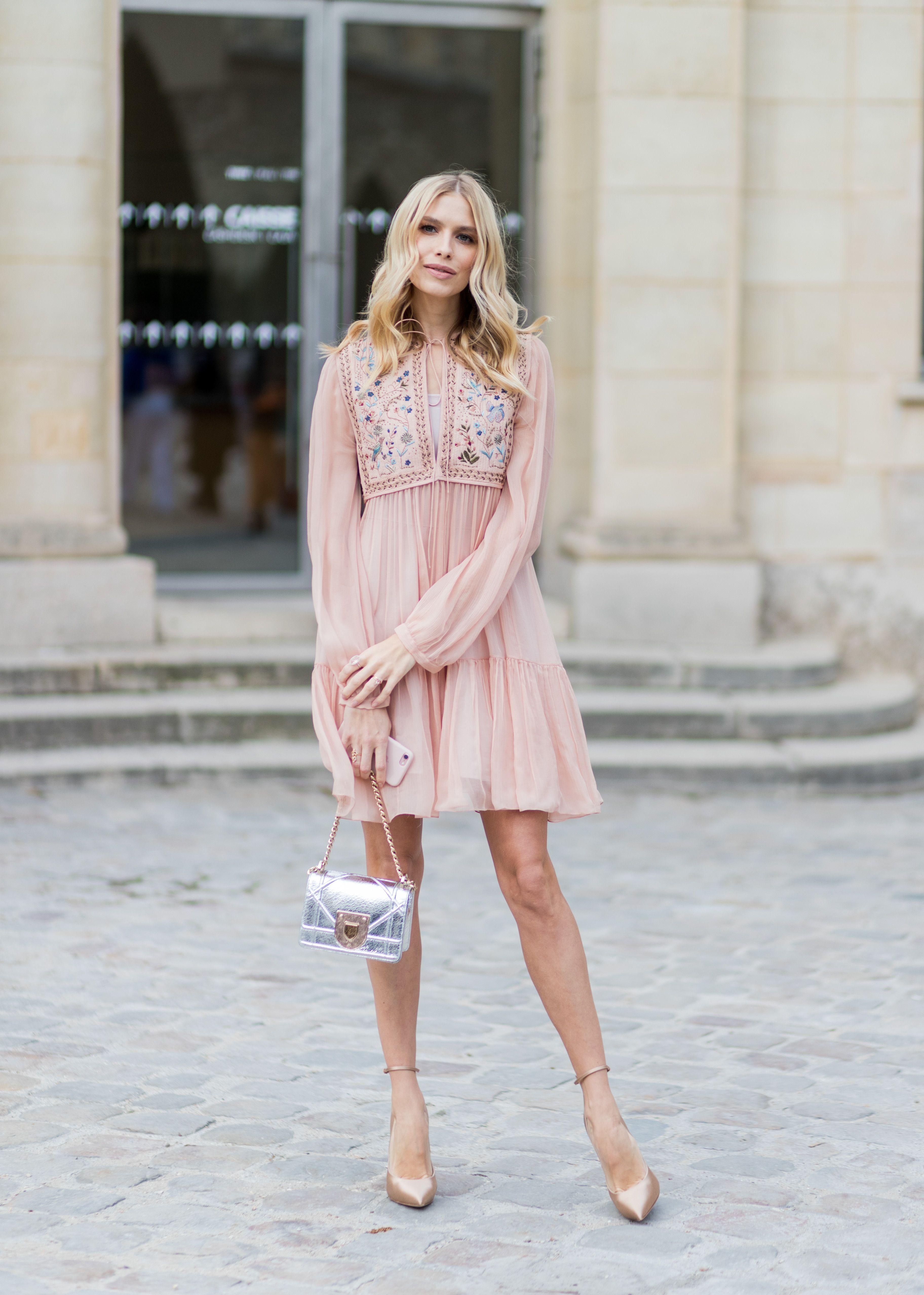 優雅, 洋裝,粉色系, 街拍, 婚禮, 穿搭, 粉紅色, 小禮服,