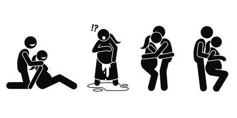 People, Social group, Silhouette, Conversation, Illustration, Team,