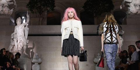 Outerwear, Jeans, Bag, Style, Street fashion, Fashion accessory, Fashion, Luggage and bags, Fur, Waist,
