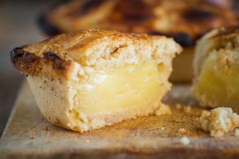 the delicious traditional pasticciotto pastry from lecce, puglia, italy