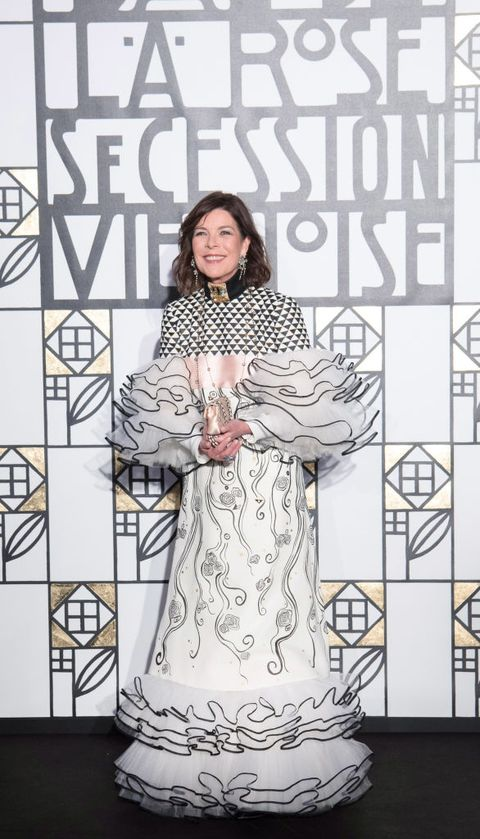 monte carlo, monaco   march 18  editors note no tabloids    princess caroline of hanover attends the rose ball 2017 secession viennoise to benefit the princess grace foundation at sporting monte carlo on march 18, 2017 in monte carlo, monaco  photo by luc castelpalais princiersbmsc pool   corbiscorbis via getty images