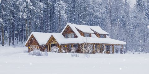 Snow, Winter, Home, Frost, House, Freezing, Tree, Property, Cottage, Fir,