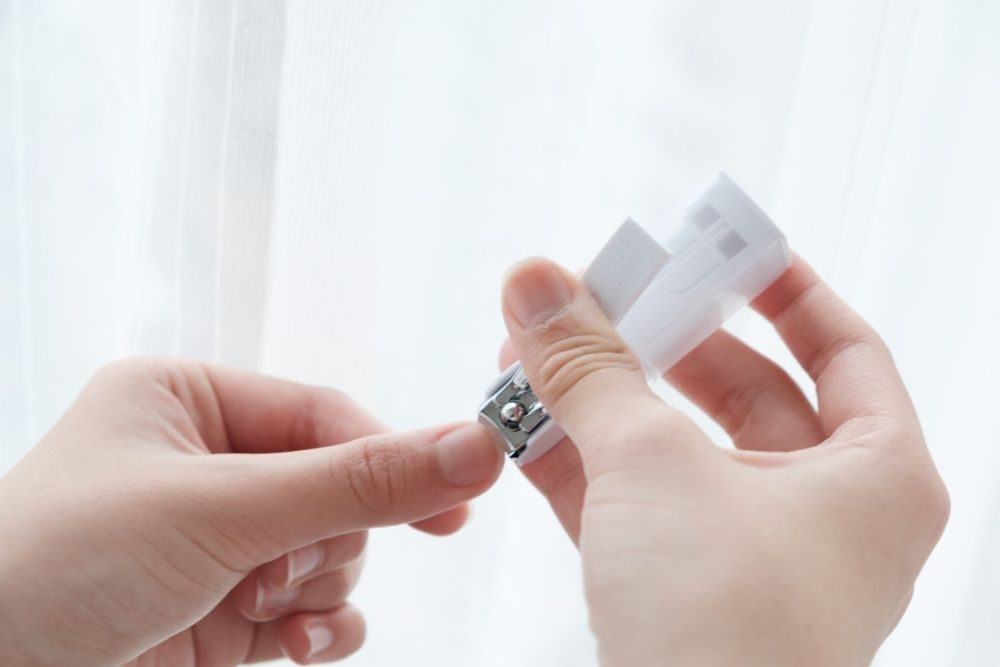 Cutting a nail
