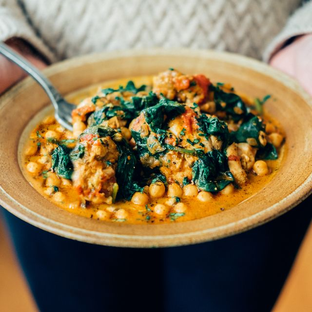 Recipes by ingredients:Chickpea and spinach curry