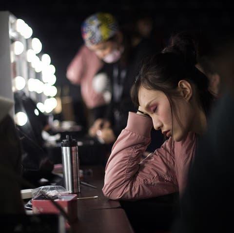 modelo cansada estresada