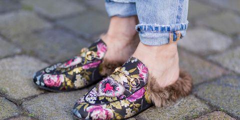 gucci discontinue fur loafer