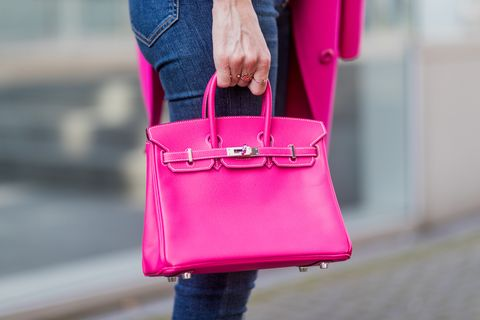 Bag, Pink, Street fashion, Handbag, Red, Magenta, Leather, Fashion, Shoulder, Purple,