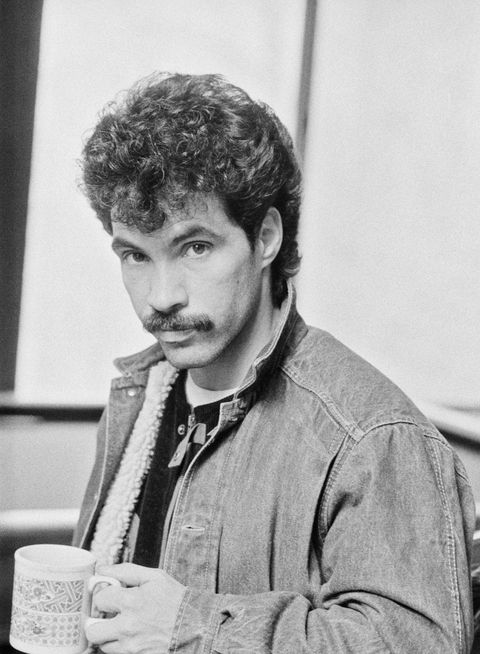 john oates left and daryl hall of american pop duo hall and oates, upstate new york, february 1983 photo by michael putlandgetty images
