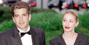 John F. Kennedy, Jr. and his wife Carolyn Bessette Kennedy arrive at the annual John F. Kennedy Library Foundation