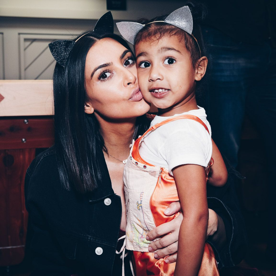 Kim Kardashian and North West Wore Matching Snakeskin Outfits to Kanye West's Church Service