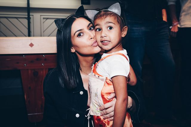 inglewood, ca   march 31  in this handout photo provided by forum photos,  among the vip guests of managing partner, shelli azoff, and ariana grandes manager, scooter braun, in the exclusive forum club enjoying the ariana grande dangerous woman show at the forum were kim kardashian and daughter, north west on march 31, 2017 in inglewood, california  photo by rich furyforum photos via getty images