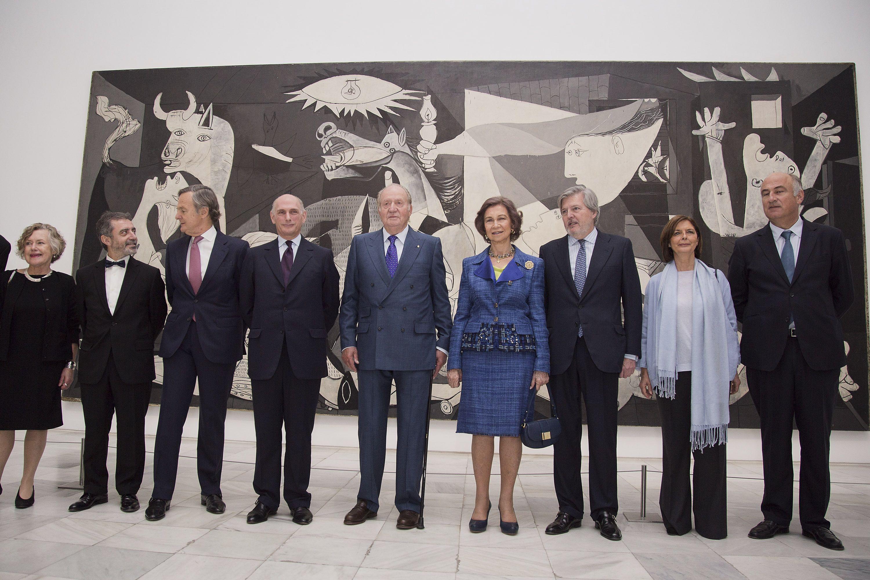 Spanish Royals Open 'Piedad Y Terror en Picasso: El camino A Guernica' Exhibition At Reina Sofia Museum