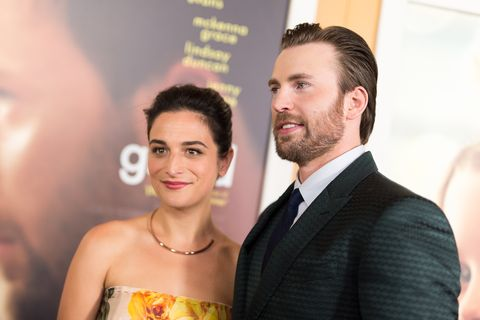 los angeles, ca   april 04  actors jenny slate l and chris evans arrive at the premiere of fox searchlight pictures gifted at pacific theaters at the grove on april 4, 2017 in los angeles, california  photo by emma mcintyregetty images