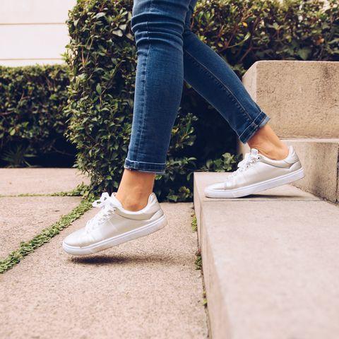 Jeans, White, Footwear, Denim, Shoe, Blue, Street fashion, Ankle, Leg, Plimsoll shoe,