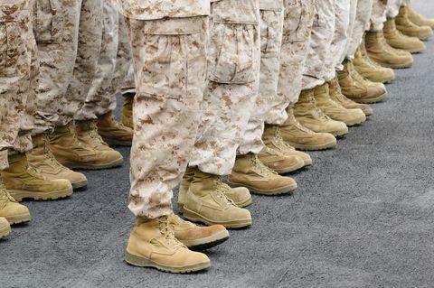 U.S. Marines boots