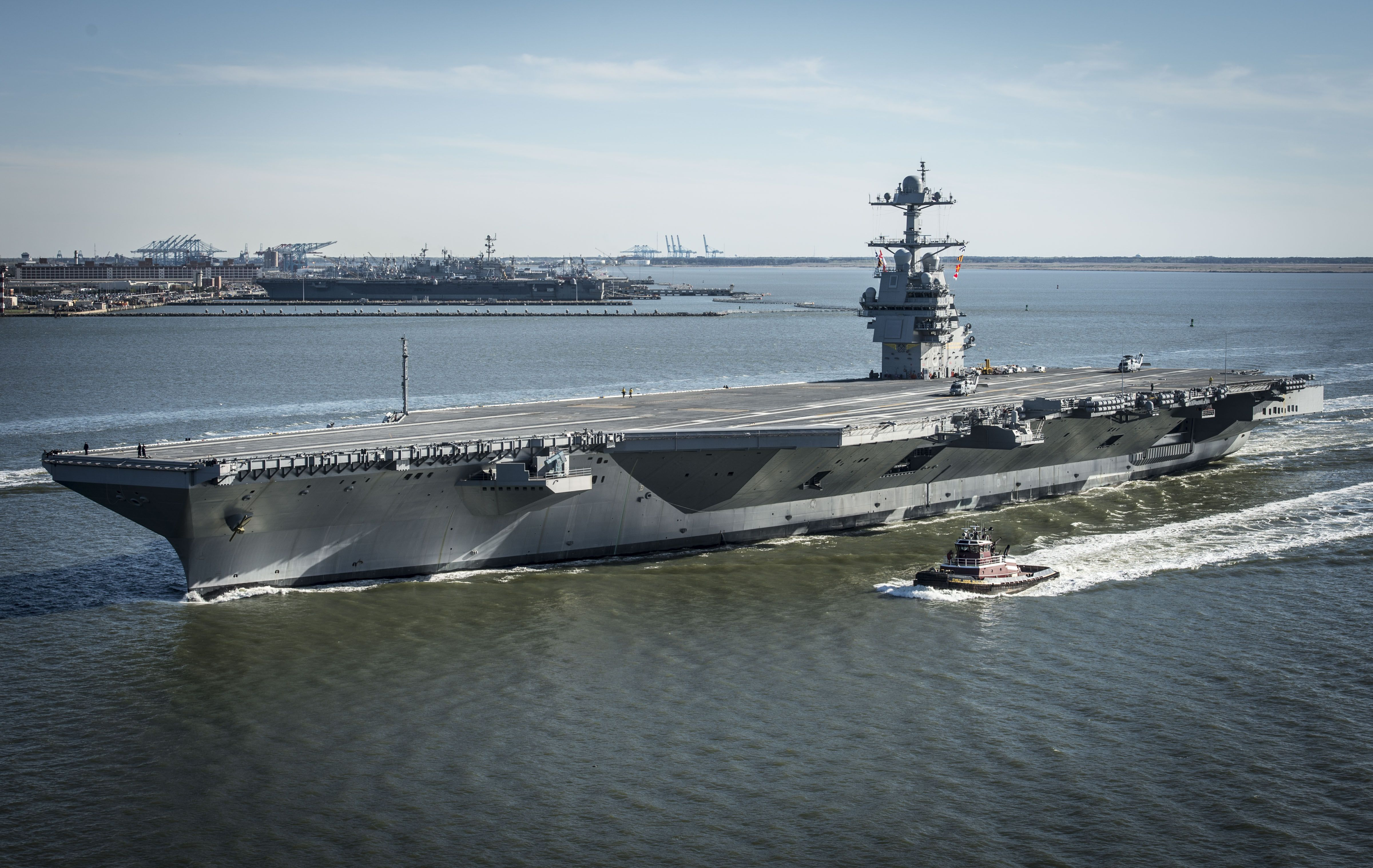 America's Newest Aircraft Carrier Suffers a Breakdown