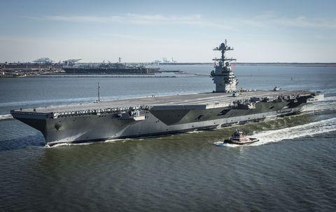Vehicle, Supercarrier, Ship, Aircraft carrier, Amphibious assault ship, Light aircraft carrier, Warship, Escort carrier, Naval ship, Boat,