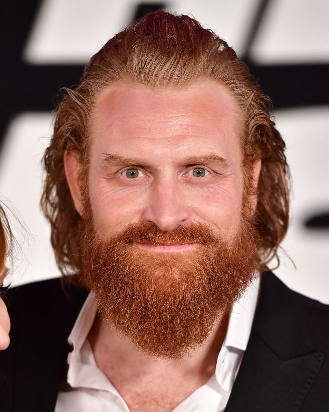 Kristofer Hivju (and beard) In the books, Tormud is a massive man with a massive belly and white beard. Casting director Nina Gold found a much cooler version.