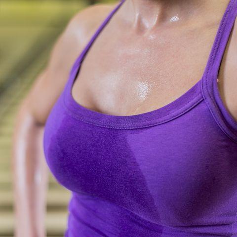 Boob sweat