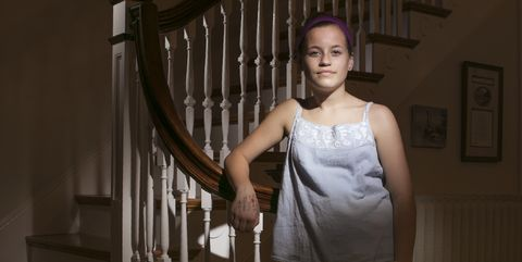Dress, Stairs, Photography, Flash photography, Handrail,