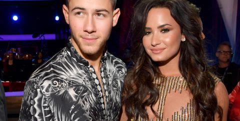 Nick Jonas and Demi Lovato.