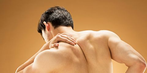 Shoulder, Barechested, Skin, Muscle, Neck, Back, Arm, Joint, Human body, Chest,