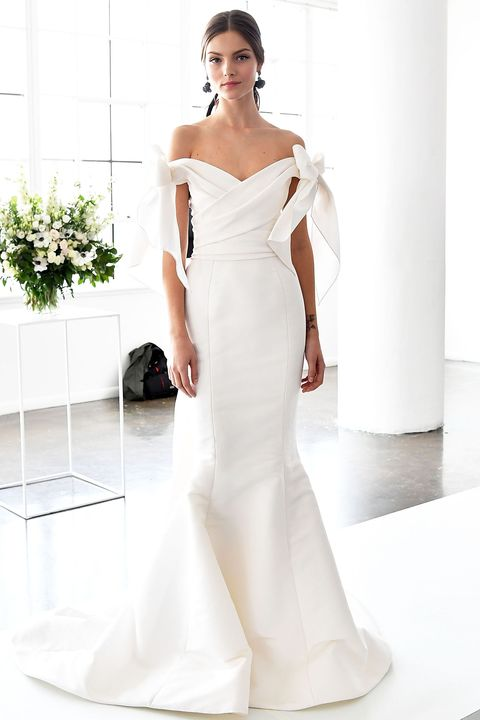 Clothing, Shoulder, Joint, Dress, White, Style, Gown, Formal wear, Wedding dress, Fashion,