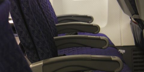 So THIS is why you have to put your plane armrest down during landing