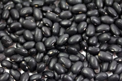 Clous up of black beans