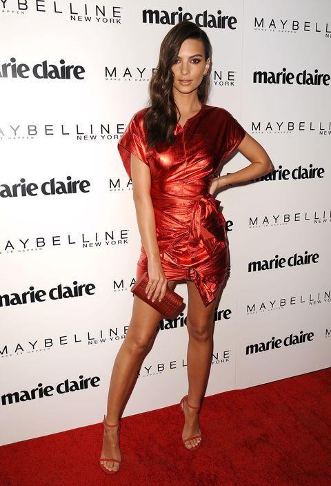 Clothing, Cocktail dress, Dress, Red, Red carpet, Shoulder, Fashion model, Fashion, Carpet, Joint,