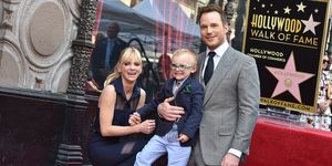 Anna Faris, Jack Pratt, and Chris Pratt