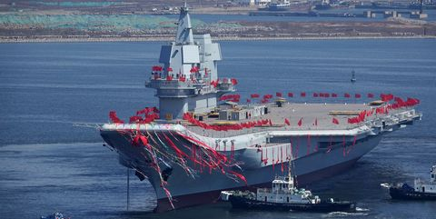 China's second carrier, 001A.