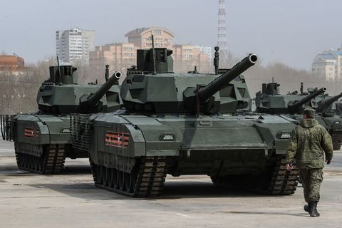 Military hardware prepared for Victory Day Parade in Moscow