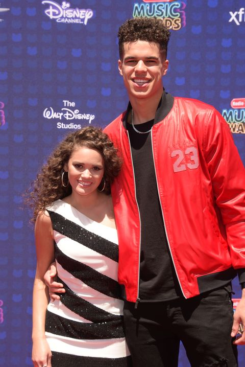 los angeles, ca   april 29 actress madison pettis l and nba player michael porter jr attend the 2017 radio disney music awards at microsoft theater on april 29, 2017 in los angeles, california photo by jeffrey mayerwireimage