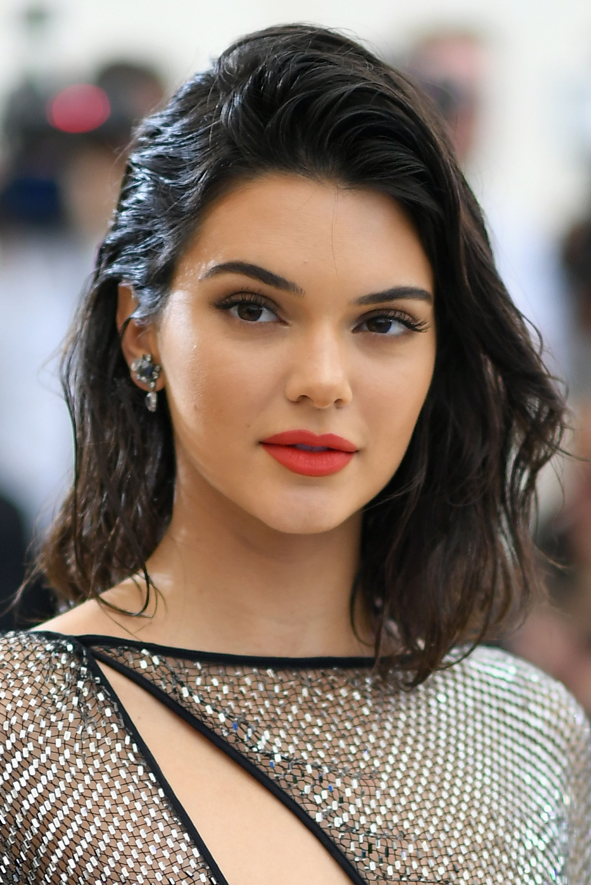 Kendall Jenner's Wet-Styled Lob